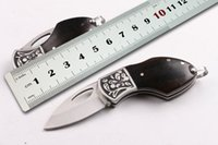 appreciation gifts - Mini Folding Knife Copper natural ebony Handle Survival Knives Rescue Pocket Knife Rare collection appreciation Gift Tools