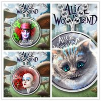 alice mad hatter - Alice in Wonderland Pendant Necklace Cat Necklace Mad hatter Cartoon Jewelry Queen of Hearts Necklace Jewellery Vintage K7474