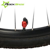 Wholesale ROCKBROS Bike Motorycycle Wheel Tire Tyre Caps Valve Dust Cover Bicycle Accessories Colors
