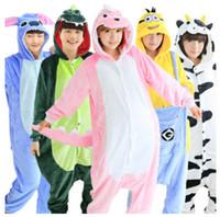 Wholesale 2016 Winter Women Hooded Pajama Sets Pikachu Unicorn Panda Unisex Flannel Hoodie Pajamas Cosplay Animal Onesies Sleepwear For Men Women