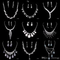 asian sets - 2016 Cheap Nine Styles Statement Necklaces Pearl Sets Bridesmaids Jewelry Lady Women Prom Party Fashion Jewelry Earrings