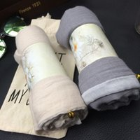 bell plain - Korean Cotton Linen Classic Stitching SCarves Shawl Fashion Wild Scarf Air Conditioning Sunscreen Scarves with Bell