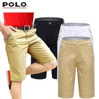 Wholesale Brand POLO Men Golf Shorts Cottton Pearly Gates Golf Trousers Pantalon Homme Clothing White Black Khaki Custom Logo Clothes