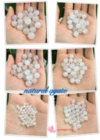 Wholesale Cheap Lucky Natural Stone Charm Round Loose White Agate Beads Bracelet Necklace Buddhist Healing Jewelry for DIY Valentine s Day