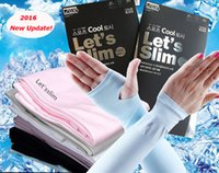 Wholesale 2016 New Let s slim Outdoor Games Sports Hiking Cycling Arm Sleeves Sun UV Protection Bike Bicycle ice silk breathable