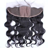 Cheap 13x4'' Brazilian Body Wave Ear To Ear Full Lace Frontals Silk Top 4x4'' Free Middle 3 Part Lace Frontal Closure Silk Base