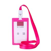 Wholesale School Office Colorful Business ID Badge Card Vertical Holders with Neck Strap Lanyard