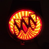 automobile buick - Buick D LED Light Car Logos For Rear Blue Red White Automobile Emble badge