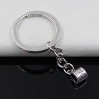 antique baby rings - Fashion diameter mm Key Ring Metal Key Chain Keychain Jewelry Antique Silver Plated baby mug cup mm Pendant