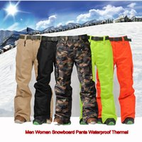 Wholesale Hot Outdoor Sports Skiing Pants Women Men High Waist Snowboard Truosers Winter Waterproof Thermal Thick Pantalon Ski