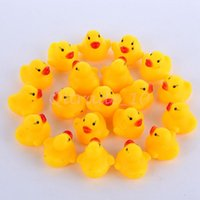 Wholesale baby bath toys Bag Baby Kid Cute Bath Rubber Ducks Children Squeaky Ducky Water Play Toy