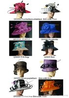 Wholesale Sinamay hat church hat ladies hat sell in mix style for races party and wedding BY EMS