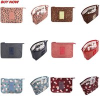 Wholesale Women Multifunction Mesh Make up Bags Travel Lady Storage High quality Cosmetic Toiletry Bag Organizer Purse Pouch Clutch Bags