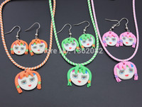baby designer jewelry - Lovely Baby Girl Handmade Girls Designer Fimo Polymer Clay Jewelry Set Children Kids Gift YZ11
