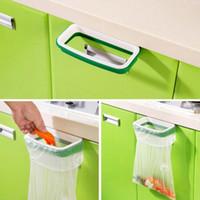 bathroom shelves cabinets - Super Deal garbage bag holder Hanging Kitchen Cupboard Cabinet Tailgate Stand Storage Garbage Bags Rack Rubbish Bag Storage Rack