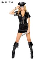Wholesale Women Black Sexy Police Costume Cosplay Halloween Costumes for women Fantasia Cosplay Fancy Dress