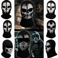 army face camouflage - Outdoor CS Ghost Masks Skull Balaclava Paintball Costume Halloween Airsoft Hunting Cycling Army Tactical Full Face Mask QQA412