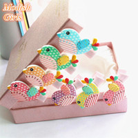 Cheap Barrettes felt animals Best Plastic Solid birds cartoon hair clips girls