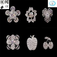 Cheap 2016 spot pop star with a Korean version of high-grade diamond brooch pearl peach flower butterfly corsage pins all-match clothing accessori