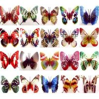Wholesale Magnetic Sticker Butterfly Fridge Magnets D Room Car Wall Decorations E2shopping