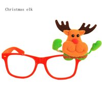 Wholesale 2016 New Trendy Style Christmas Glass Frame Props Christmas Decoration Glasses Dance Performance Party Props