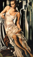 Wholesale lempicka portrait de madame allan bott Genuine Handpainted Portrait Art Oil Painting On Canvas Multi sizes Available