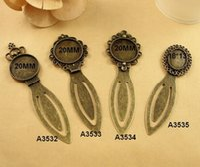 antique hair slides - Fit MM MM Antique Bronze bookmark retro hair accessories vintage hairpin fitting tibetan silver women hair stick pin jewelry