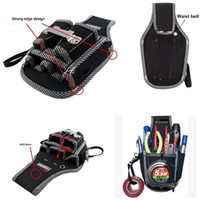 Wholesale Black in Electricians Waist bag Tool Belt Pouch Bag Screwdriver wrench pliers Carry Case Holder Outdoor Working