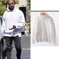Wholesale High Quality New Men s Hoodies Sweatshirts KANYE White Storm Oversize Hides Hooded Hooded Jacket Tide Top Coat
