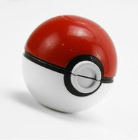Cheap 55MM New Poke PokeBall Manual Grinder 3 Parts Smoking Cigarette Alloy Machine E-cig Accessories Grinding Detector Gifts With Box Bag HH-A01