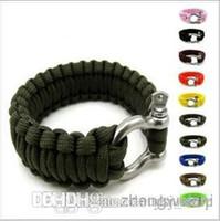 Wholesale U Umbrella rope outdoor survival bracelet buckle quick release seven core umbrella rope lifesaving rope bracelet emergency escap