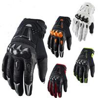 Gros-nouveaux gants bombardier de carbone de motocross BMX VTT VTT MX Off Road cross fox gant Dirt bike vélo vélo moto gants de course