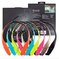 Wholesale HBS HBS HBS Wireless Bluetooth Sport Neckband Tone Headphone Earphones Headsets For iphone plus Samsung S S4 Note