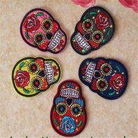 Wholesale WL iron on mixed skeleton Embroidered patch sew on Motif Applique garment embroidery cartoon patch DIY accessory