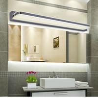 Wholesale New Simple Bathroom Mirror Light LED Bathroom Wall Lamp Stainless Steel lamparas de pared Make up Waterproof Anti fog Lamps