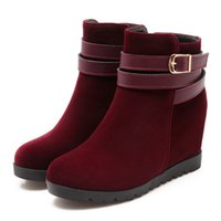 cowboy boots for women - 2016 new ankle boots for women wedge boots round toe boots buckle boots fashion women boots cowboy boots