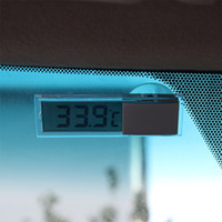 automobile thermometer - Sucker Type MiNi Number Automobile Car Electronic Thermometer Transparent liquid crystal display LCD