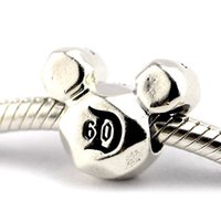 bead landing charms - Mickey Mouse land th Anniversary Charm Sterling Silver Bead Fit Pandora Fashion Jewelry DIY Charm Brand
