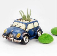 balcony style - Latest Europe style colorful mini car resin flower pot creative balcony decoration colors