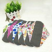 Wholesale 18pcs Feminine Menstrual Pads Bamboo Charcoal Material patterns Soft Washable Sanitary Pad X18cm Maternity Towel Pad