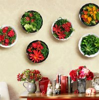 artificial technology - 3D artificial plants Mediterranean style decorative flower Crafts art botanical art simulation technology rustic wall decoration