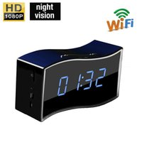 Wholesale High Quality P HD Wifi IP Camera Clock Wireless Home Security Alarm Clock Camera for Iphone and Android Remote Moitoring
