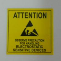 4.8 * 4.8cm ATTENTION Autocollant étiquette adhésive pour emballage ESD Anti statique Sensitive Device électronique Blindage Anti Static-Party