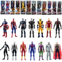 action figures spider man - The Captain America The Avenger Marvel Spider Man Green Goblin Iron Man Wolverine PVC Action Figure Toys Inch Hand Dolls Toys GZ T07