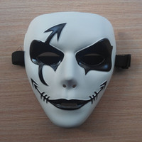 Wholesale Ghost white mask dance step ghost dance hip hop mask dance performance bar Masked dancers PVC environmentally friendly materials