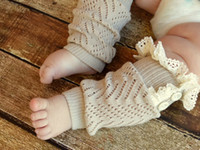 baby crawling leggings - Fashion Newborn Baby Photo Props Infant Lace Leg Warmer Phography Shoot Knit Crawling Knee Pad Protector Leggings Socks S6030