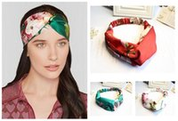 Wholesale 2016 Women Bohemian Headbands Colors Satins Print Crossed Headbands Women Fashion Hairbands Hair Accessories