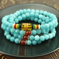 amazon links - Chakra Blue Amazon stone Bracelet Jasper Yoga Meditation Multilayer Natural Stone Energy Bracelet For Women and Men