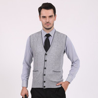 basic business - New Mens Knit Vest V Neck Basic Sweater Pullover Cardigan Sleeveless Business Casual