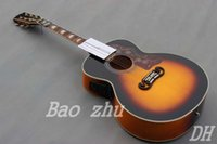 Wholesale China Guitar Factory Sell Chinese Vintage Sunburst J200VS Acoustic Guitars With EQ